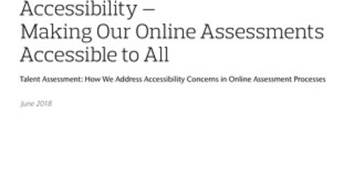 Accessibility - Making Our Online Assessments Accessible to All