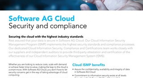 Software AG Cloud Security & Compliance