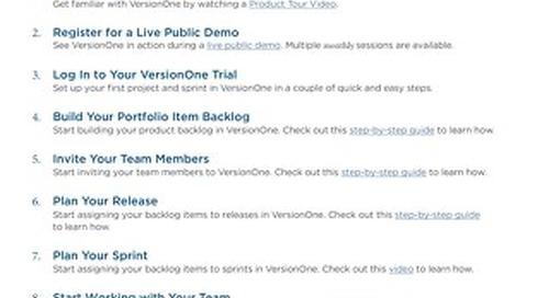 VersionOne Ultimate Edition Trial Guide