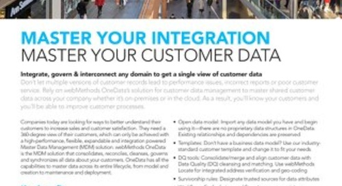 webMethods OneData for a single customer view