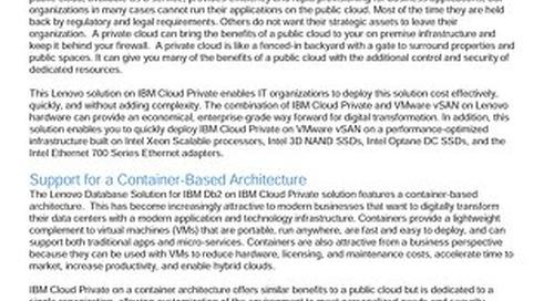 Lenovo Database Solution for IBM Db2 on IBM Cloud Private