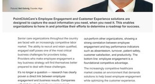 Employee Engagement & Customer Experience - Solution Sheet - PointClickCare