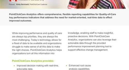 Analytics - SolutionSheet - PointClickCare