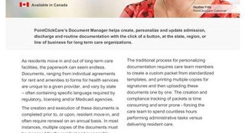 Document Manager - Solution Sheet - PointClickCare