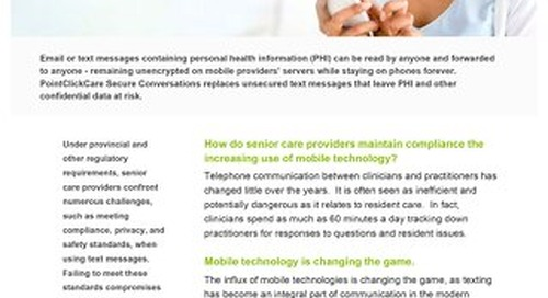 Secure Conversations™ for Canada - Solution Sheet - PointClickCare