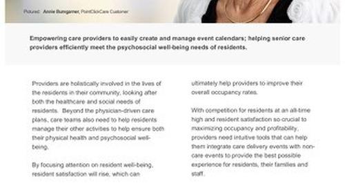 Resident Event Calendar - Solution Sheet - PointClickCare