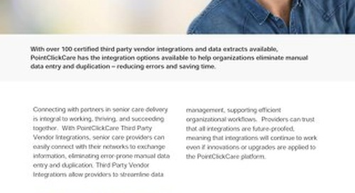Third Party Vendor Integrations - SolutionSheet - PointClickCare