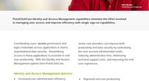 Identity & Access Management - Solution Sheet - PointClickCare