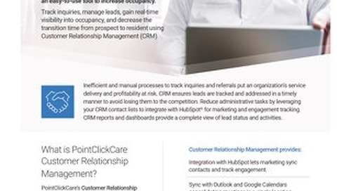 Customer Relationship Management - Solution Sheet - PointClickCare
