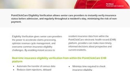 Eligibility Verification: Solution Sheet