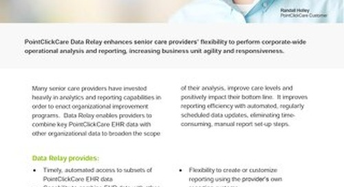 Data Relay - SolutionSheet - PointClickCare