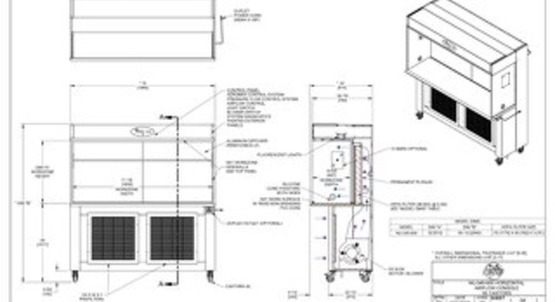 [Drawing] AireGard NU-340-630 Laminar Airflow Workstation with Casters