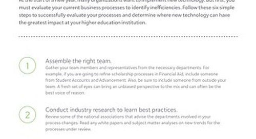 Tip Sheet: 6 steps for reviewing your business processes prior to implementing new technology
