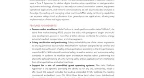 Helix Virtualization Platform for Industrial Product Overview