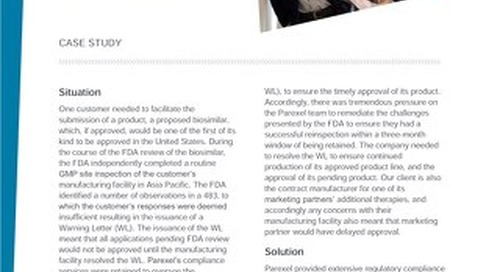 Case Study Achieving Product Endorsement_FDA Warning Letter