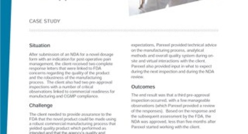 Case Study_Regulatory Compliance Services-NDA Approval
