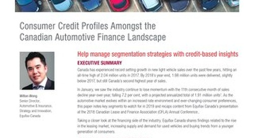 Whitepaper: Canadian Auto Finance Landscape