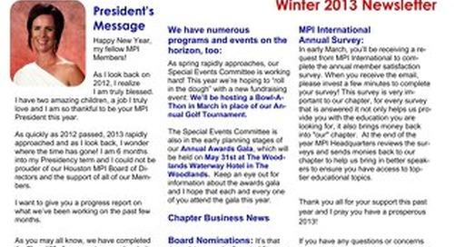 MPI-HAC Winter 2013 Newsletter