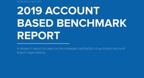 TOPO's 2019 Account Based Benchmark Report  |  Brought to you by Engagio