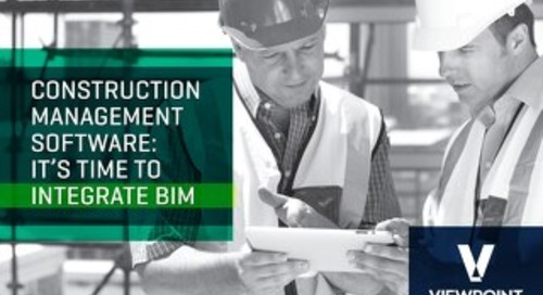 It's Time to Integrate BIM With Your Construction Management Software