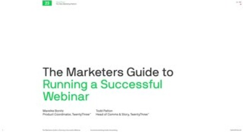 The marketers guide to running a successful webinar