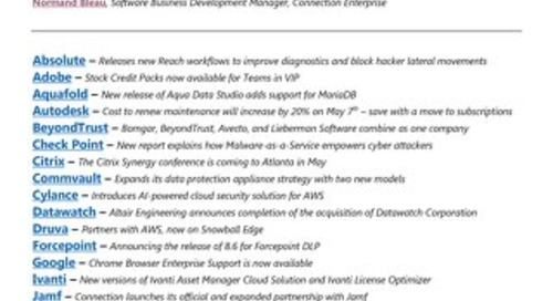 Connection's What's New in Software Newsletter-1Q 2019