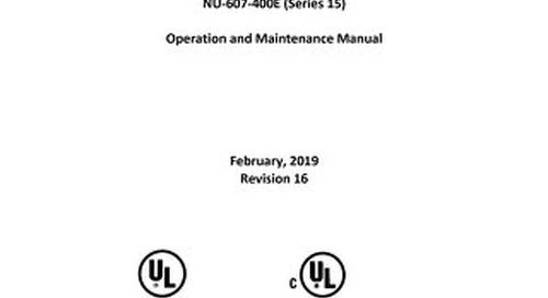 [Manual] AllerGard NU-607 Class I Animal Bedding Disposal Cabinet