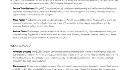 Enterprise Advanced Data Sheet