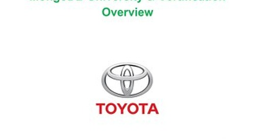 MongoDB Training Plan - Toyota
