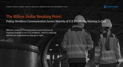 2019 State of Employee Communication and Engagement Study