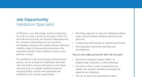 Laval, CA - Validation Specialist