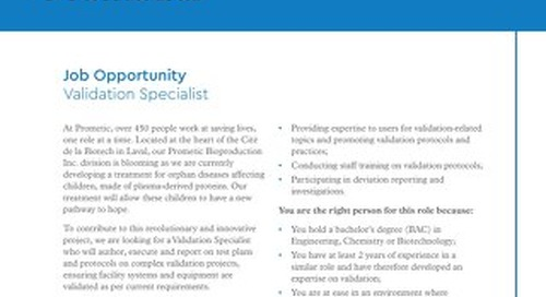 Laval, CA - Validation Specialist