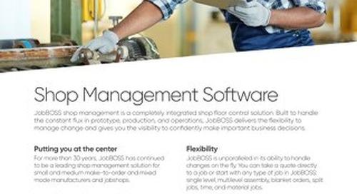 JobBOSS Shop Management Software