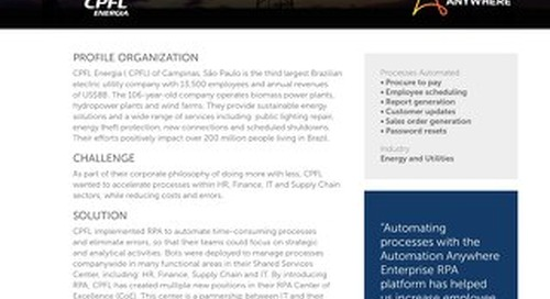 CPFL Energia automates processes so teams have time dedicated to analytical and strategic initiatives