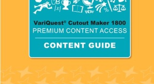 VariQuest Cutout Maker Premium Access Content Guide 2019