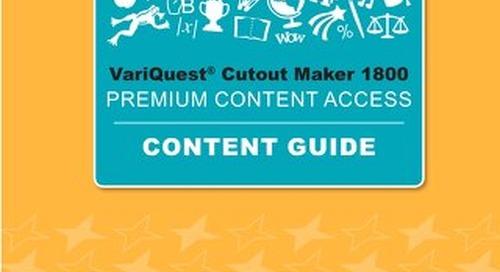 VariQuest Cutout Maker Premium Access Content Guide 2019