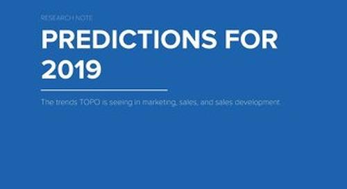 TOPO Predictions for 2019