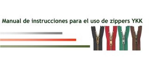 Manual de instrucciones de uso de cremalleras YKK