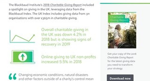 Charitable Giving Report 2018 Summary