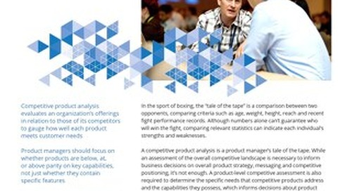 Competitive Product Analysis for Product Management