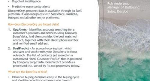 DiscoverOrg - Partner Information Sheet