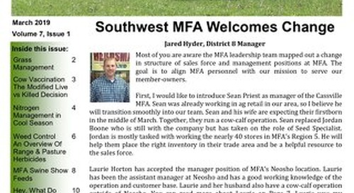 Southwest - March 2019 Newsletter