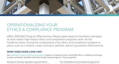 Operationalizing Your E&C Program