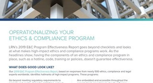 Operationalizing Your E&C Program