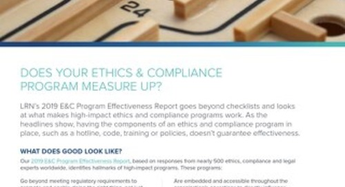 Does Your E&C Program Measure Up?