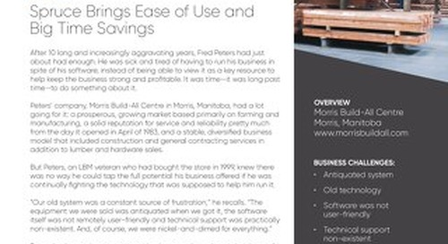Morris Build All Centre: Spruce Brings Ease of Use and Time Savings