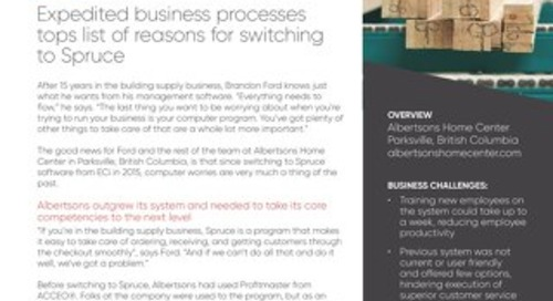 Albertsons Home Center: Spruce Improves Business Processes