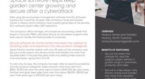Hickory Home & Garden Center: Spruce Keeps Business Going After Ransomware Attack