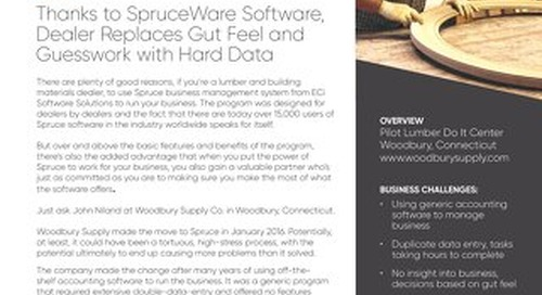 Woodbury Supply: Spruce Replaces Gut Feel with Data Based Decisions