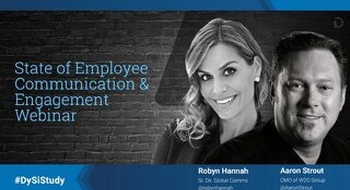 State of Employee Communication and Engagement Webinar (Slide Presentation)